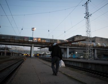 "Fotoreportage: ""I Work at the Tbilisi Railway Station"""