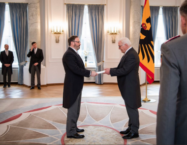 The new ambassador of Georgia to Germany, Elguja Khokrishvili, has been accredited by Germany´s Federal President Frank-Walter Steinmeier.
